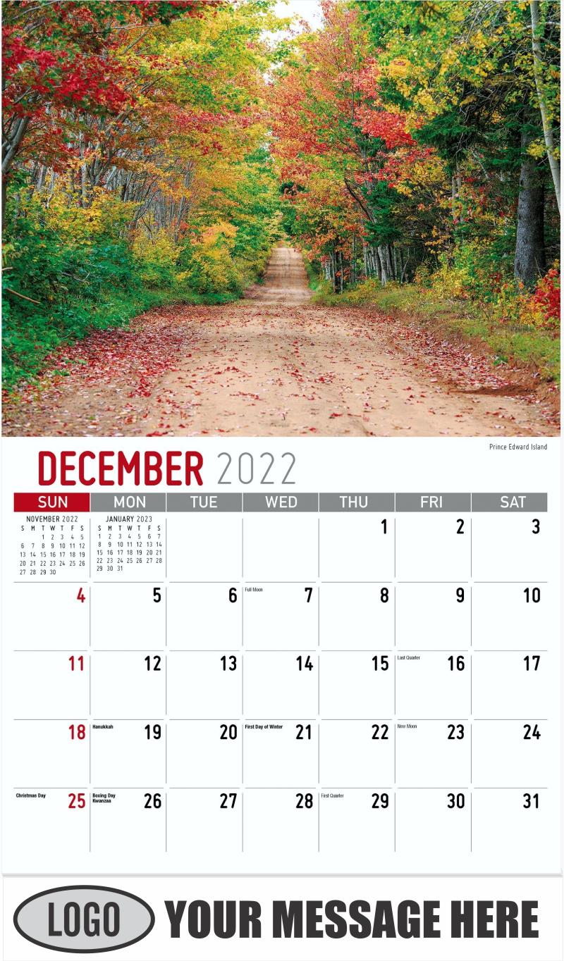 Prince Edward Island - December 2022 - Atlantic Canada 2022 Promotional Calendar