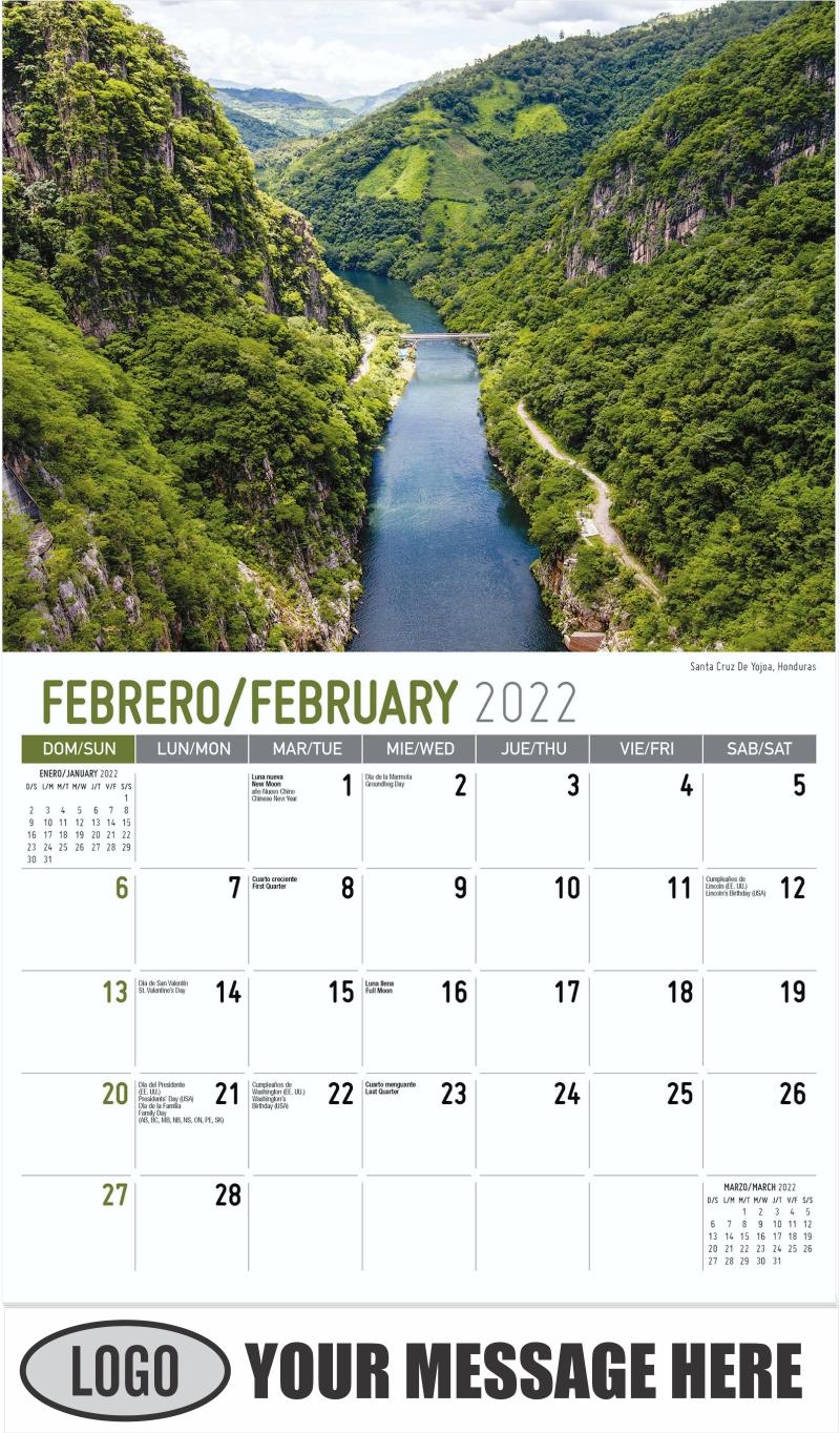 Santa Cruz De Yojoa, Honduras - February - Beauty of Latin America 2022 Promotional Calendar