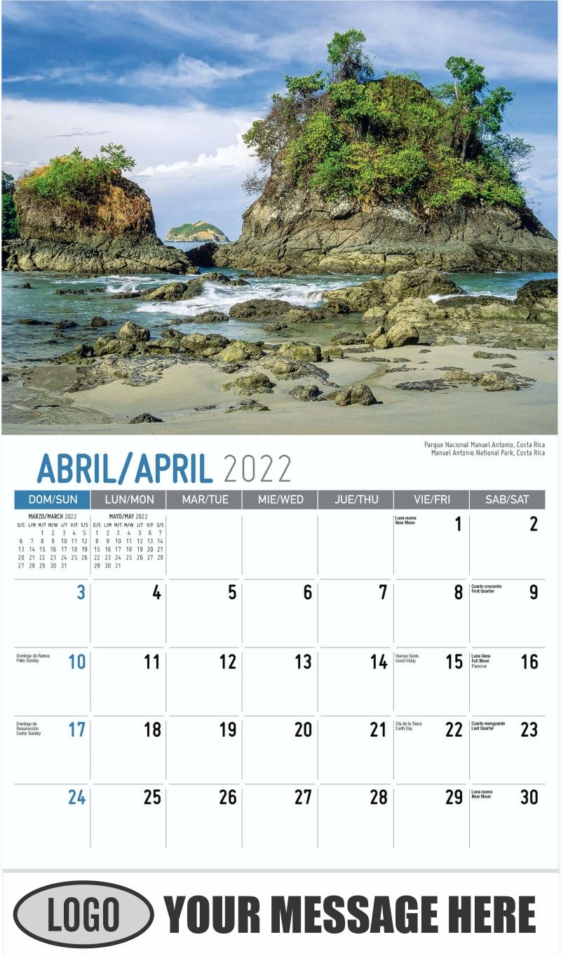 Manuel Antonio National Park, Costa Rica Parque Nacional Manuel Antonio, Costa Rica - April - Beauty of Latin America 2022 Promotional Calendar