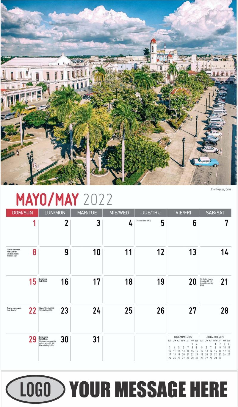 Cienfuegos, Cuba - May - Beauty of Latin America 2022 Promotional Calendar