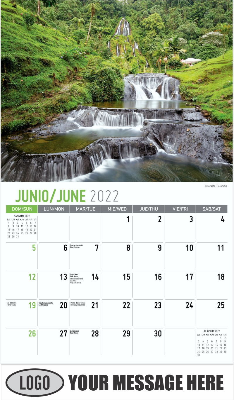 Risaralda, Columbia - June - Beauty of Latin America 2022 Promotional Calendar