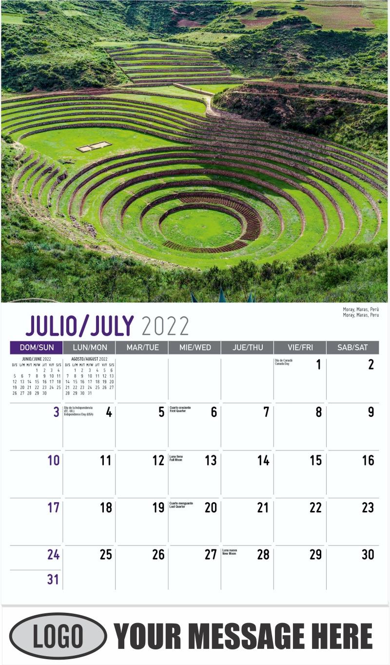 Moray, Maras, Peru Moray, Maras, Perú - July - Beauty of Latin America 2022 Promotional Calendar