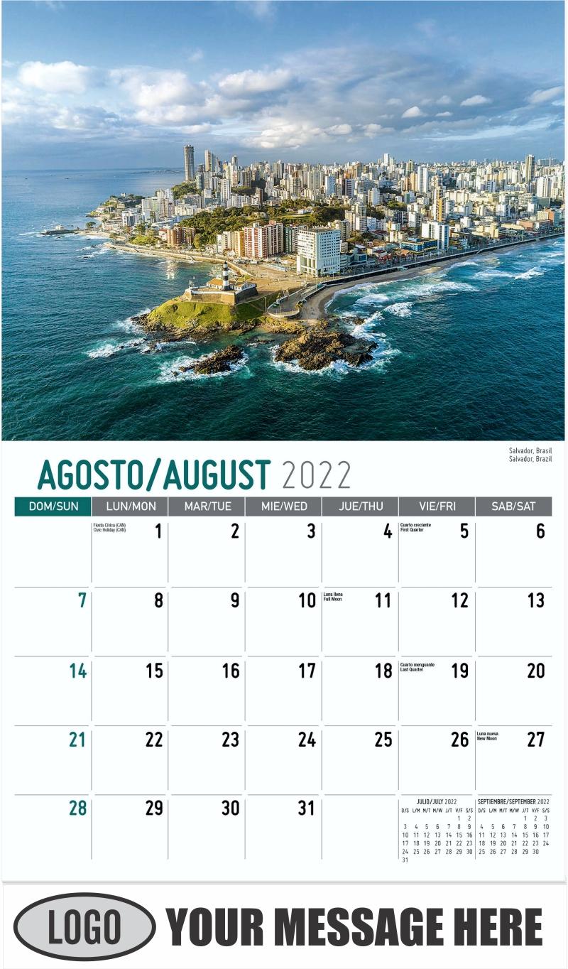Salvador, Brazil Salvador, Brasil - August - Beauty of Latin America 2022 Promotional Calendar