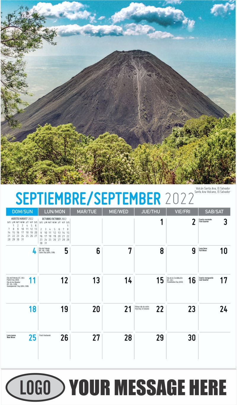 Santa Ana Volcano, El Salvador  Volcán Santa Ana, El Salvador - September - Beauty of Latin America 2022 Promotional Calendar