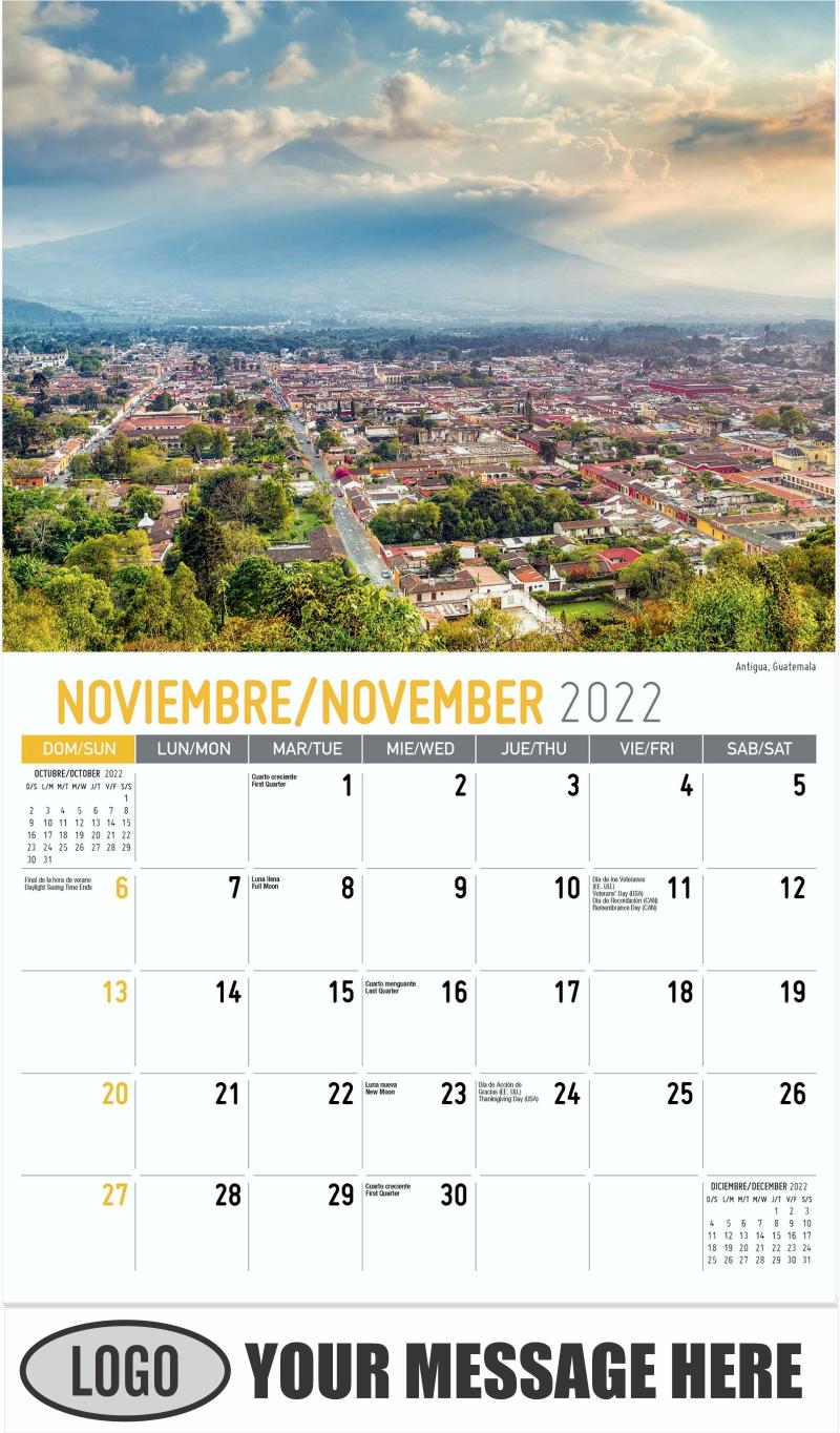 Antigua, Guatemala - November - Beauty of Latin America 2022 Promotional Calendar