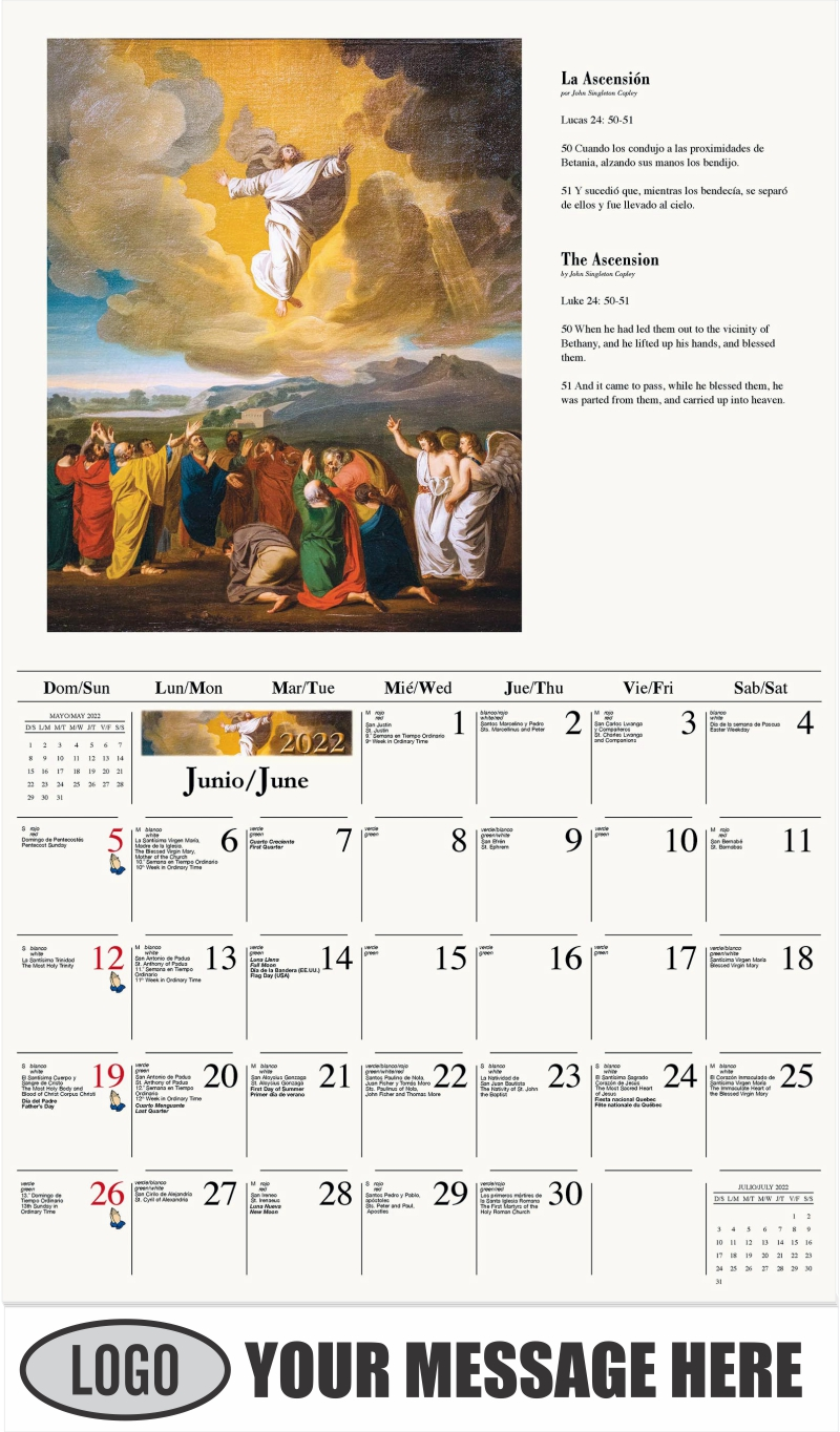Cristo y las espinas - May - Catholic Inspiration (Spanish-English bilingual) 2022 Promotional Calendar
