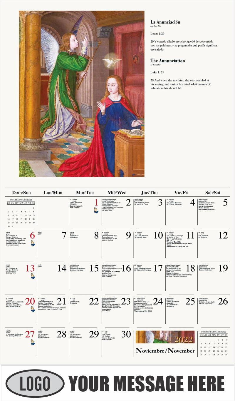 La Anunciación - November - Catholic Inspiration (Spanish-English bilingual) 2022 Promotional Calendar