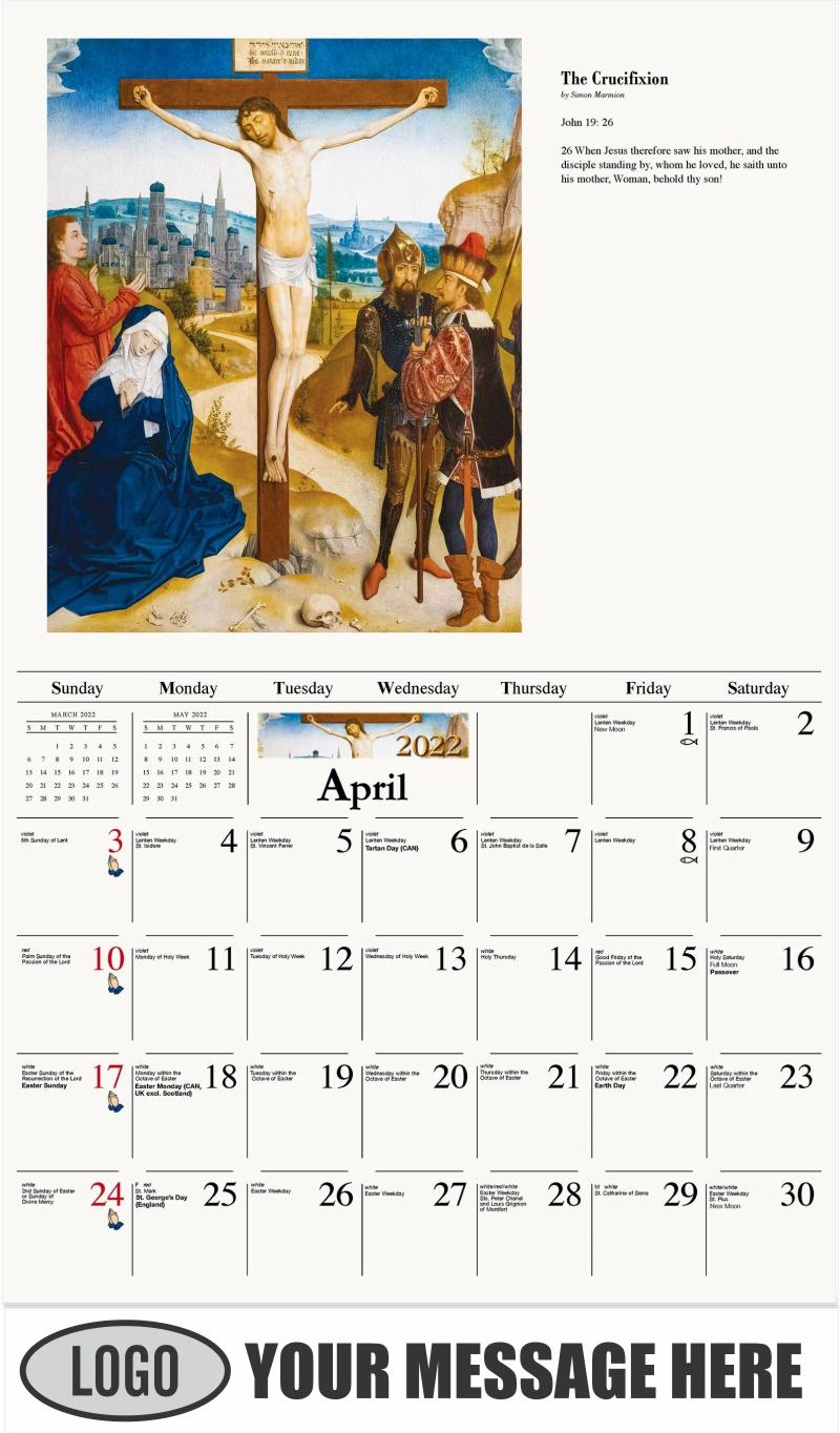 The Crusifixon - April - Catholic Inspiration 2022 Promotional Calendar