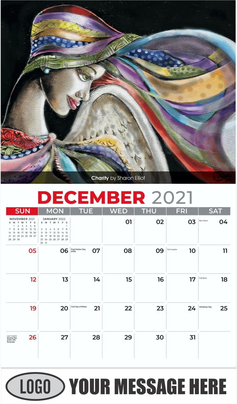 Charity by Sharon Elliot - December 2021 - Celebration of African American Art 2022 Promotional Calendar