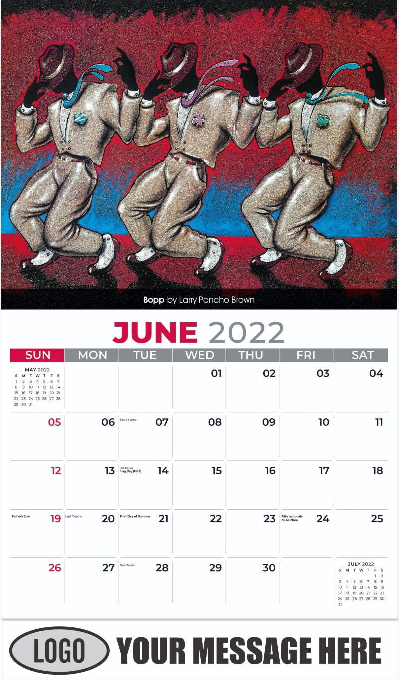 Bopp by Larry Poncho Brown - June - Celebration of African American Art 2022 Promotional Calendar