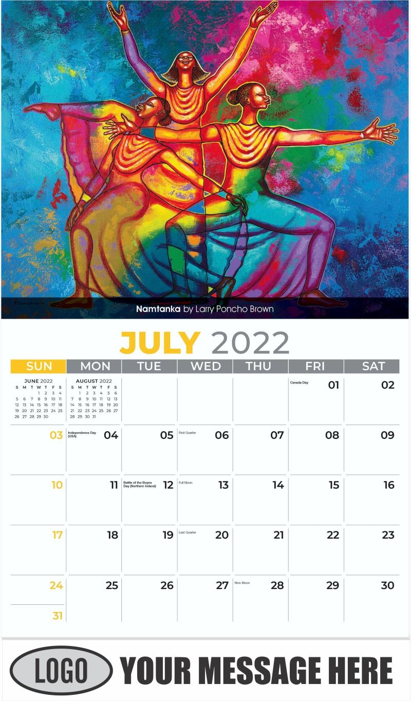Namtanka by Larry Poncho Brown - July - Celebration of African American Art 2022 Promotional Calendar