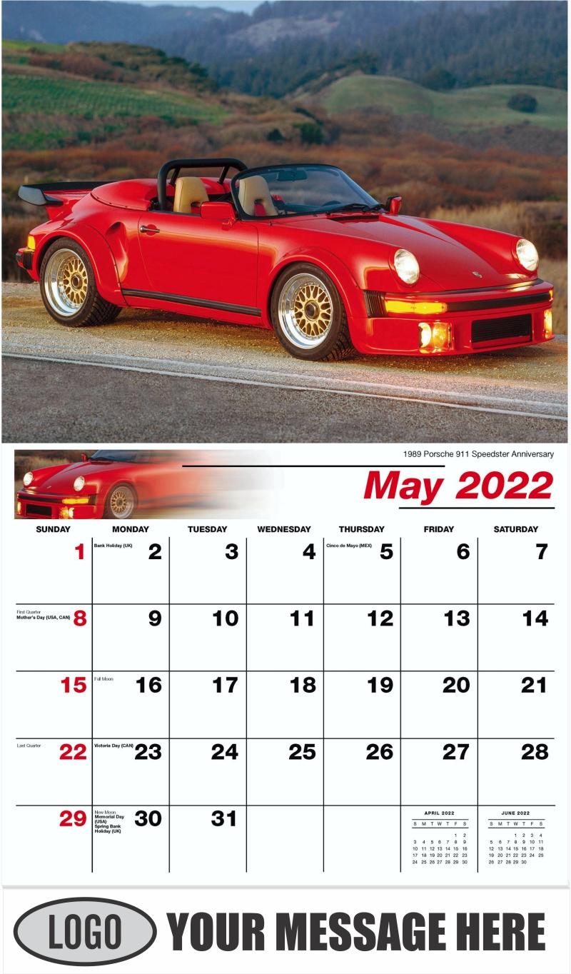 1989 Porsche 911 Speedster Anniversary - May - Classic Cars 2022 Promotional Calendar