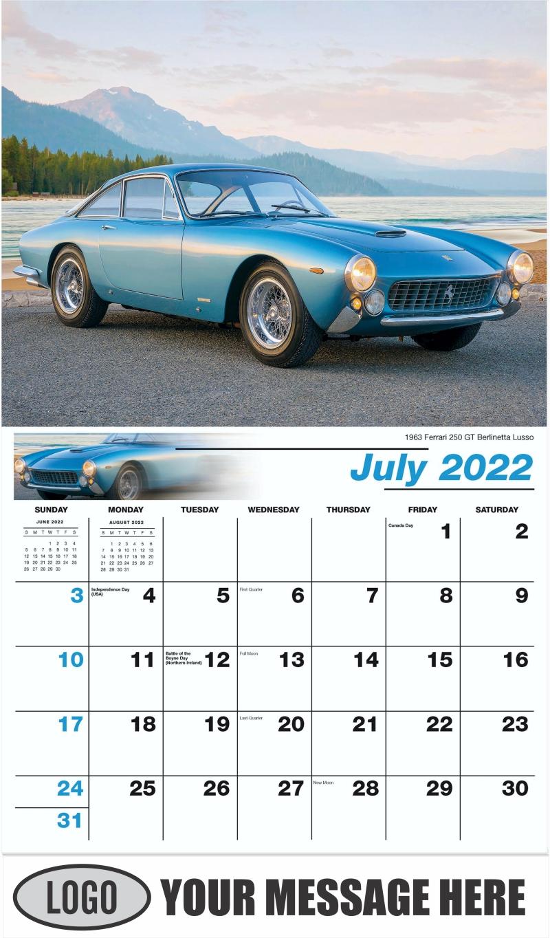 1963 Ferrari 250 GT Berlinetta Lusso - July - Classic Cars 2022 Promotional Calendar