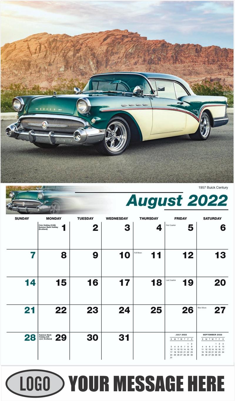 1957 Buick Century - August - Classic Cars 2022 Promotional Calendar