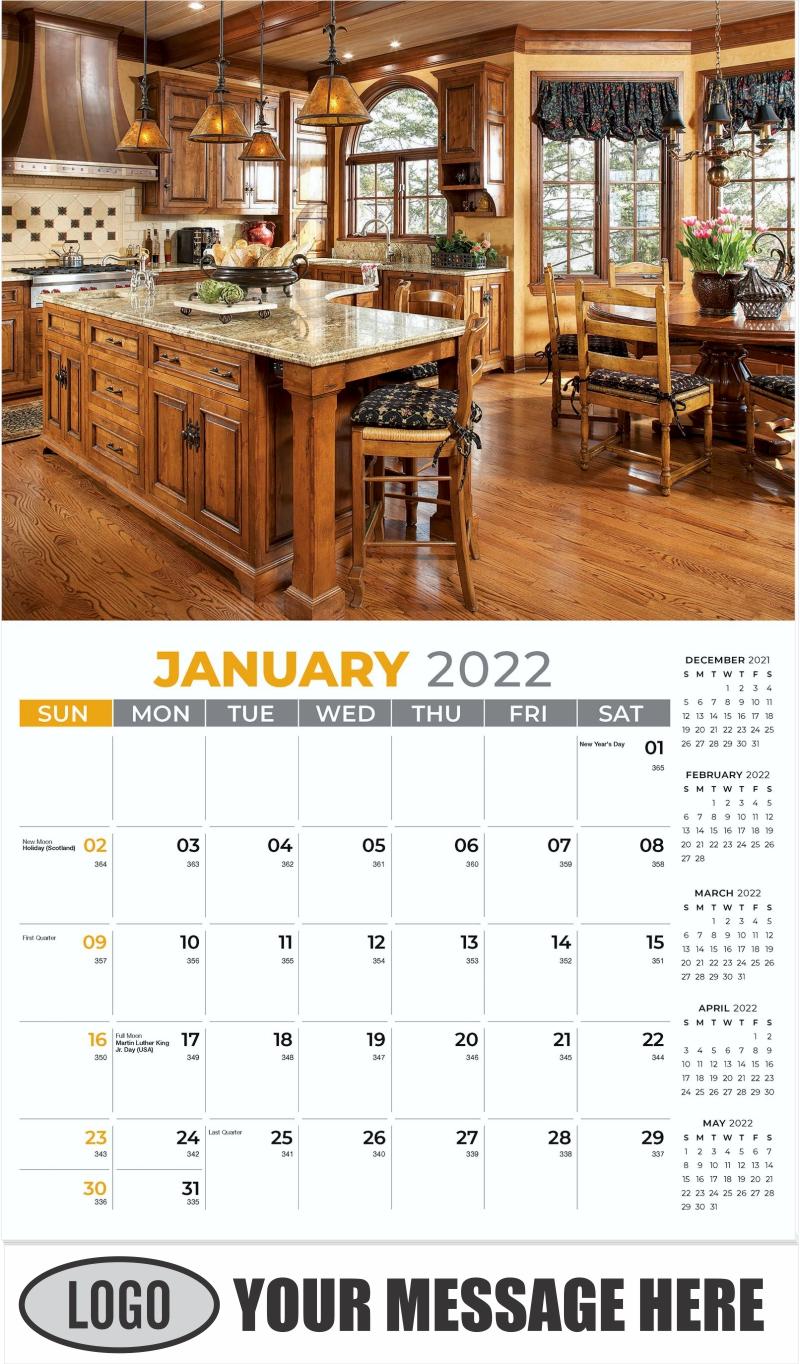 Interior Home Design Inspiration Calendar - January - Décor & Design 2022 Promotional Calendar