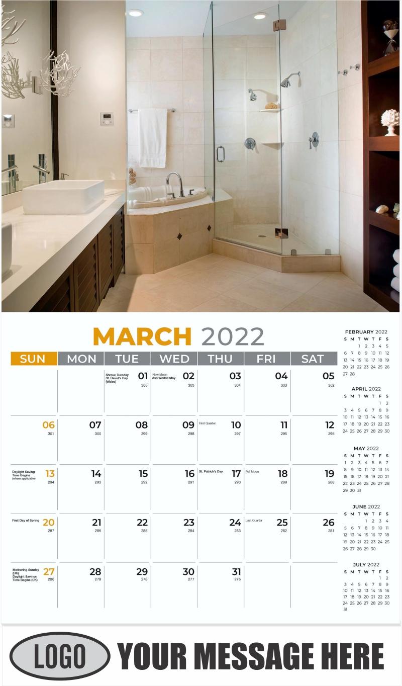 Interior Home Design Inspiration Calendar - March - Décor & Design 2022 Promotional Calendar
