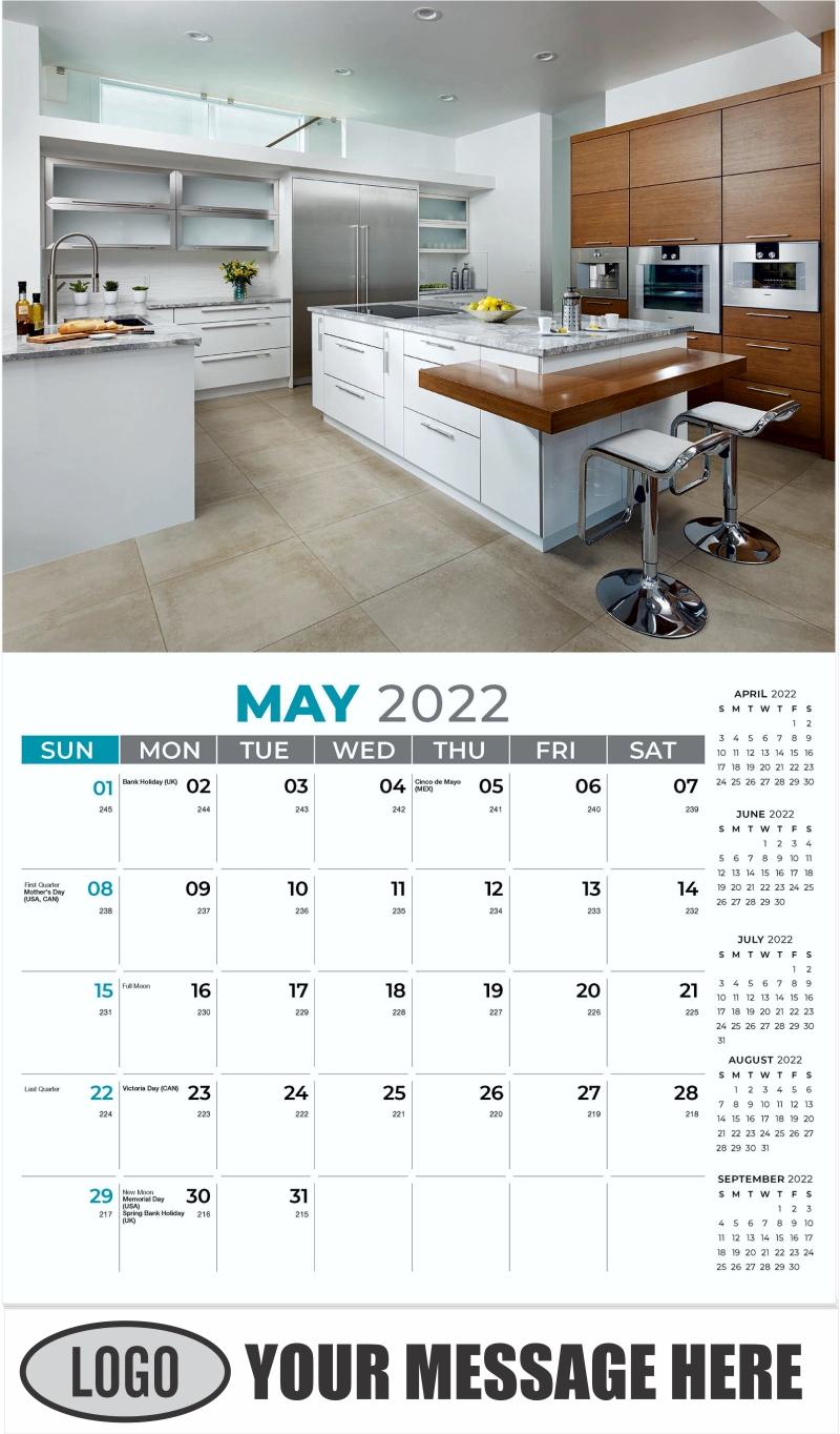 Interior Home Design Inspiration Calendar - May - Décor & Design 2022 Promotional Calendar