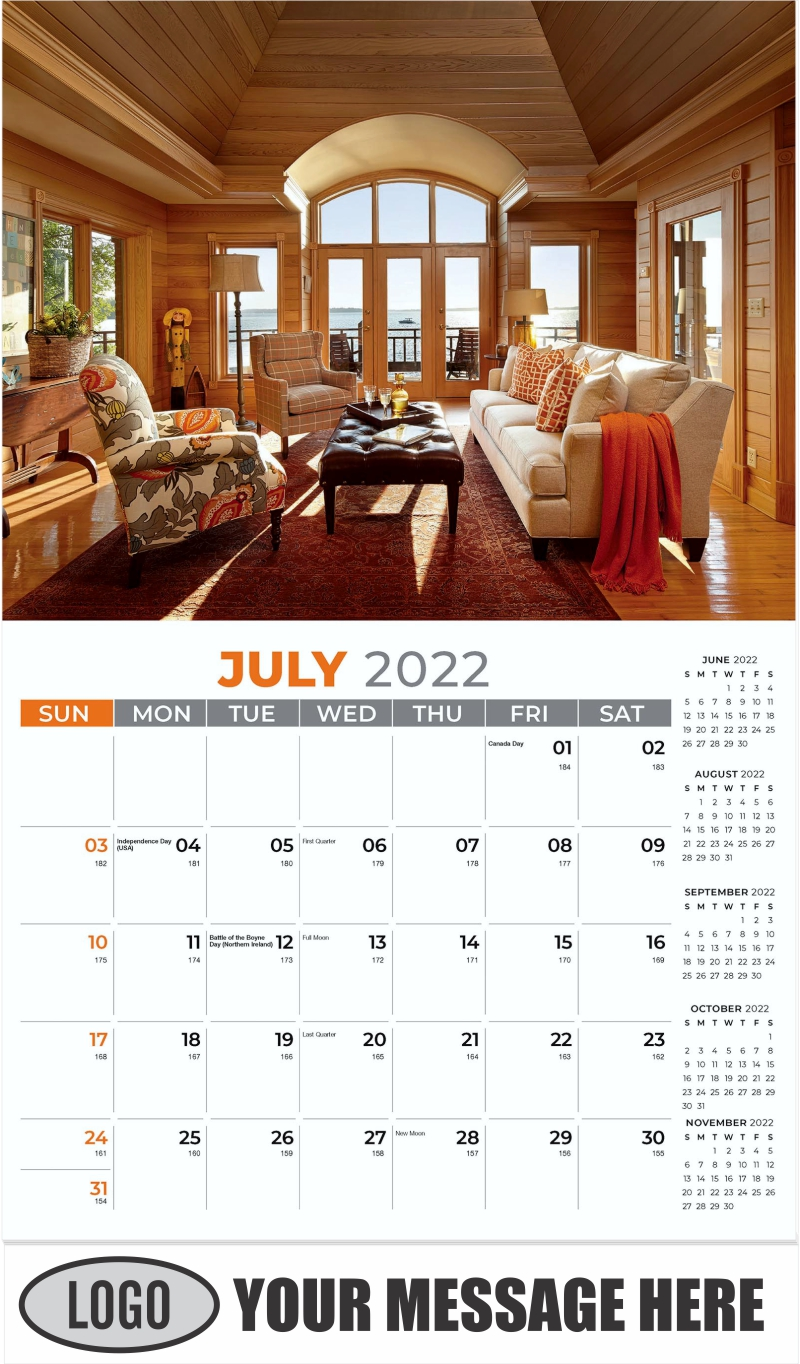 Interior Home Design Inspiration Calendar - July - Décor & Design 2022 Promotional Calendar