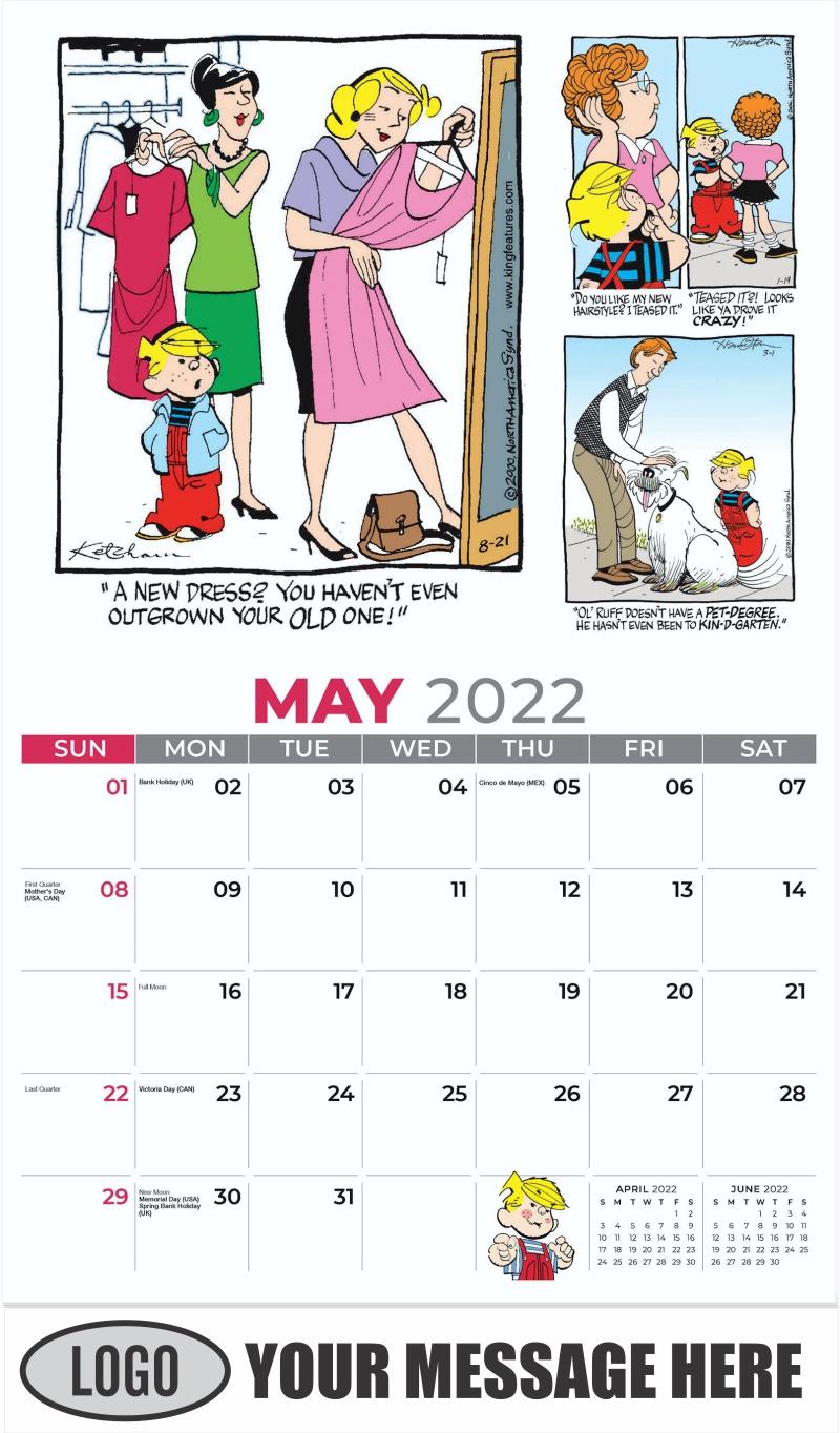 2022 Dennis the Menace Art Calendar - May - Dennis the Menace 2022 Promotional Calendar