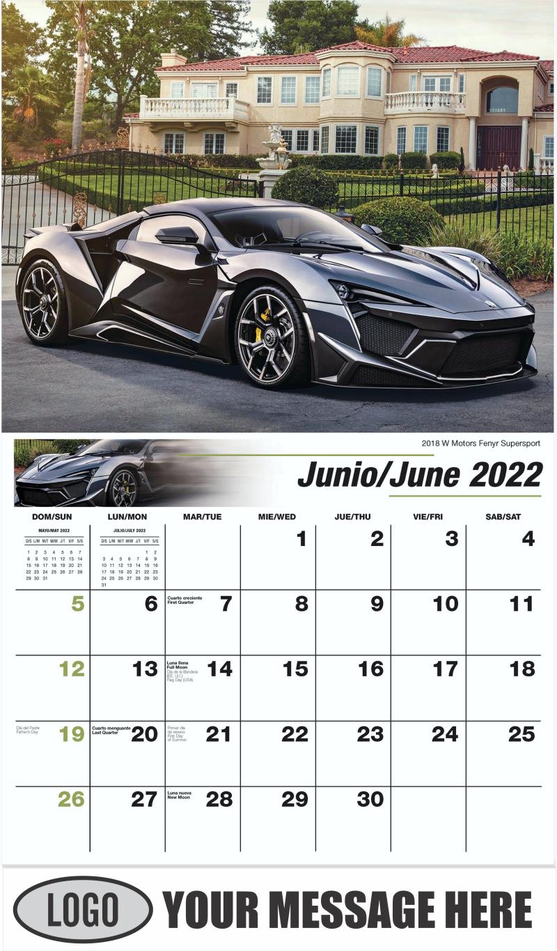 2018 W Motors Fenyr Supersport - June - Exotic Cars (Spanish-English bilingual) 2022 Promotional Calendar