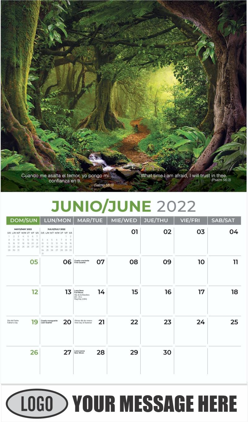 Tropical Jungle - June - Faith-Passages-Eng-Sp 2022 Promotional Calendar