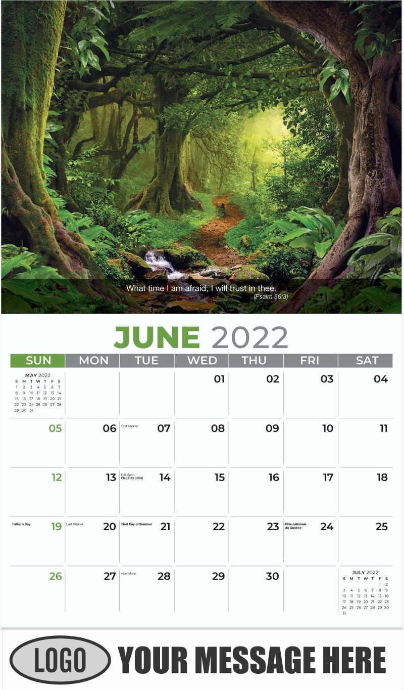 Tropical Jungle - June - Faith Passages 2022 Promotional Calendar