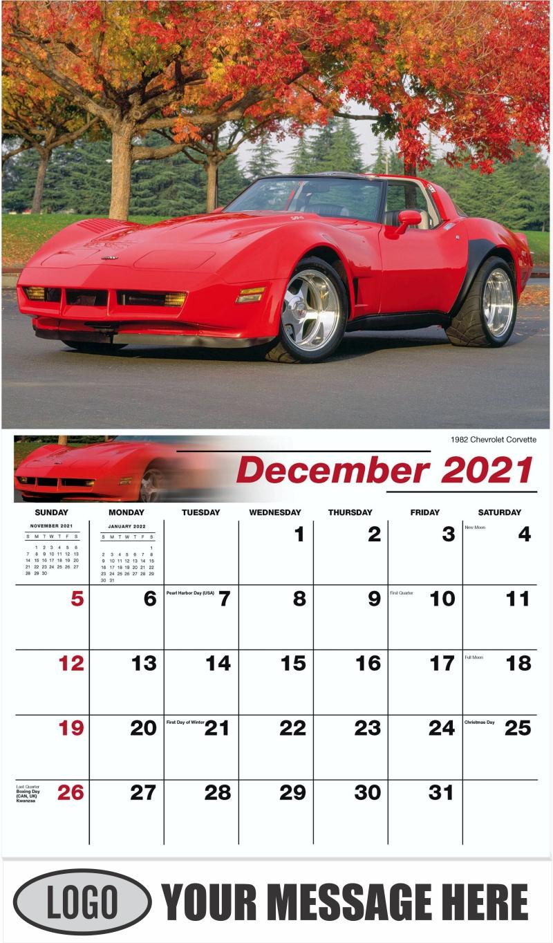 1966 Oldsmobile Toronado - December 2021 - GM Classics 2022 Promotional Calendar
