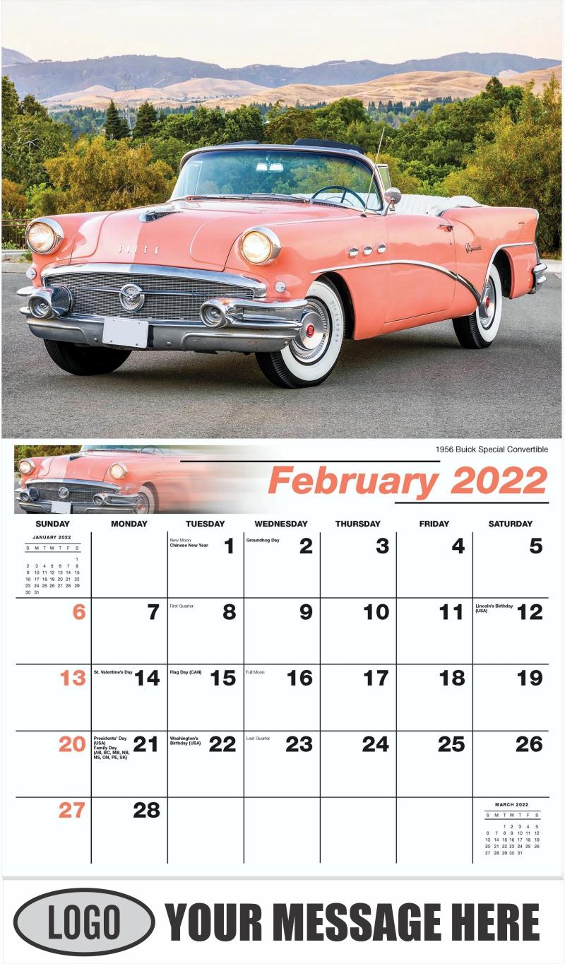 1970 Buick GSX Saturn - February - GM Classics 2022 Promotional Calendar