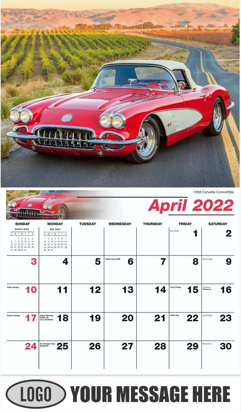 1961 Pontiac Ventura - April - GM Classics 2022 Promotional Calendar