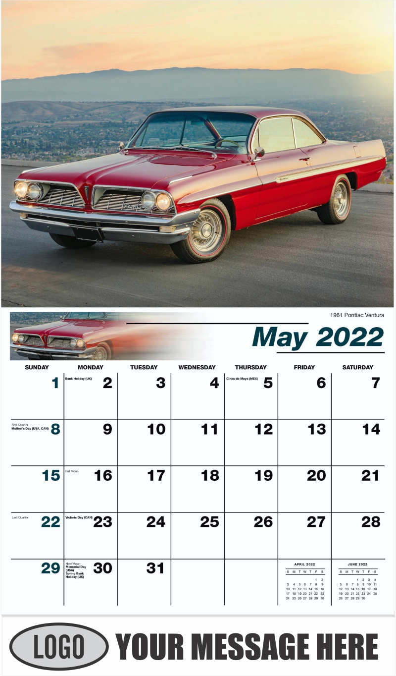 1971 Chevrolet Chevelle SS - May - GM Classics 2022 Promotional Calendar