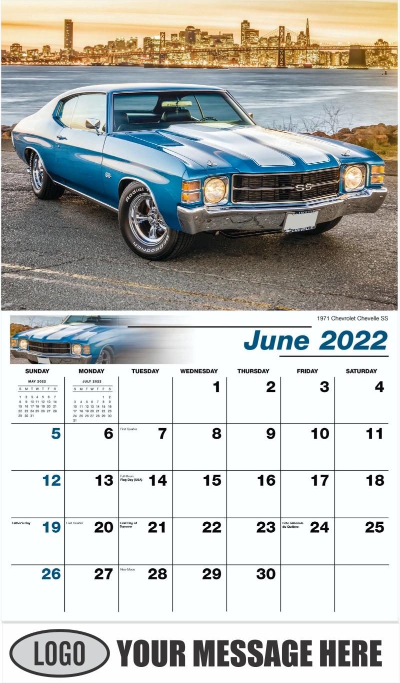 1970 Buick Skylark Convertible - June - GM Classics 2022 Promotional Calendar