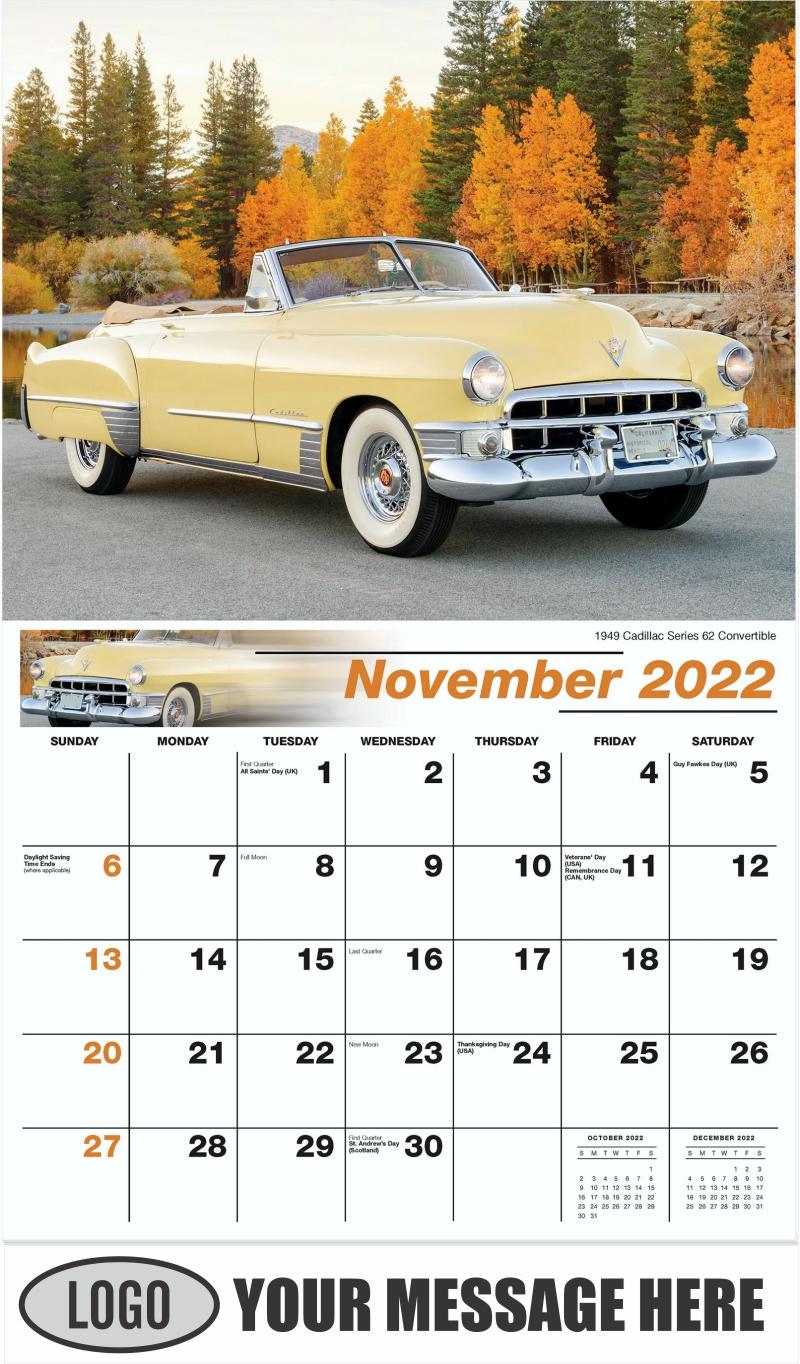 1969 Chevrolet Camaro RS-SC - November - GM Classics 2022 Promotional Calendar
