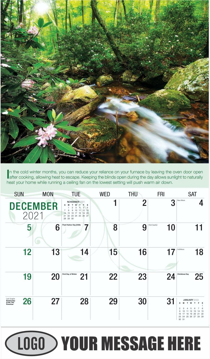 Forest creek - December 2021 - Go Green 2022 Promotional Calendar