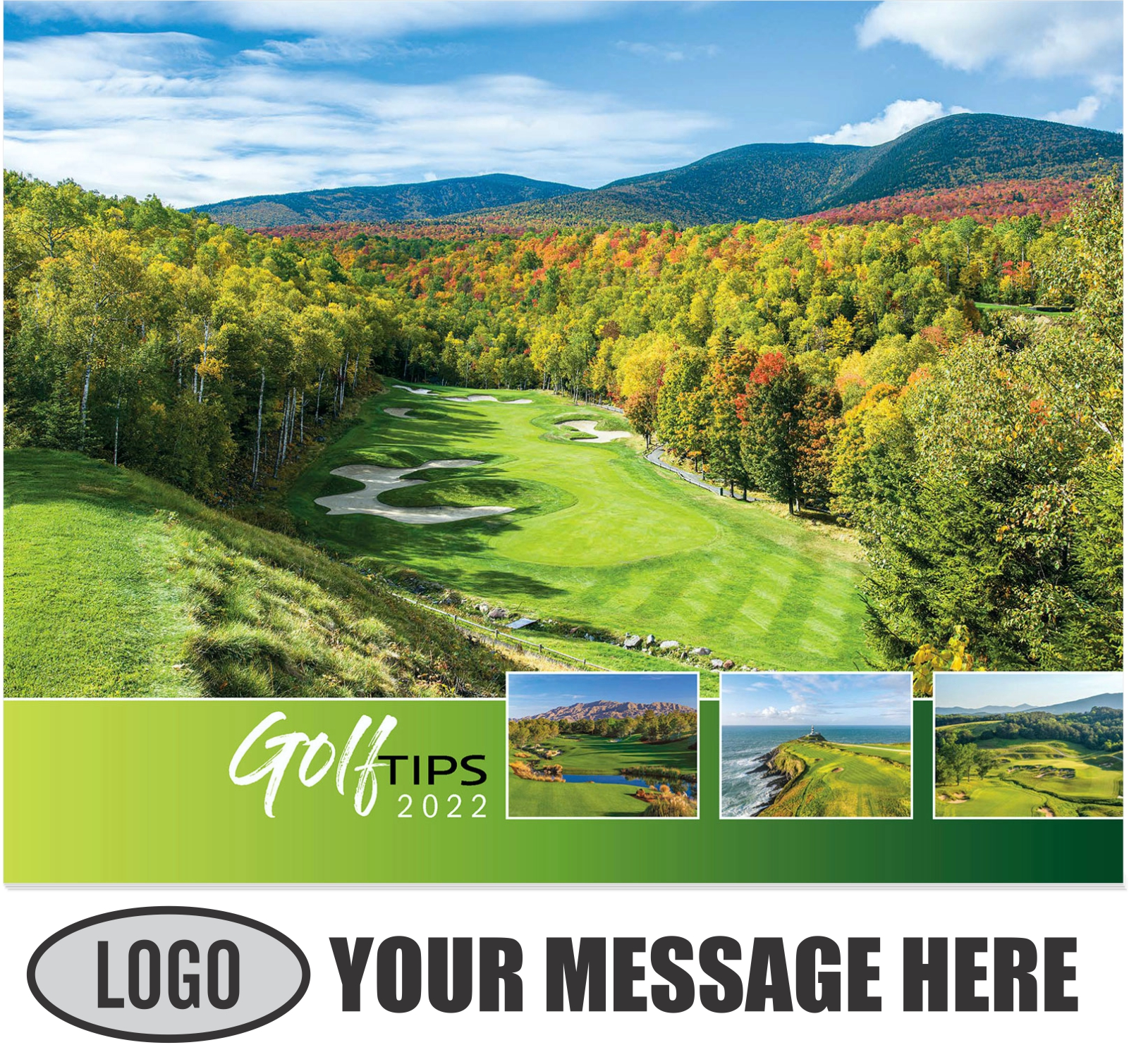 2022 Golf Tips  (Tips, Quips and Holes) Promotional Calendar