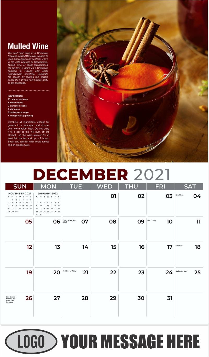 Mulled Wine - December 2021 - Happy Hour Cocktails 2022 Promotional Calendar