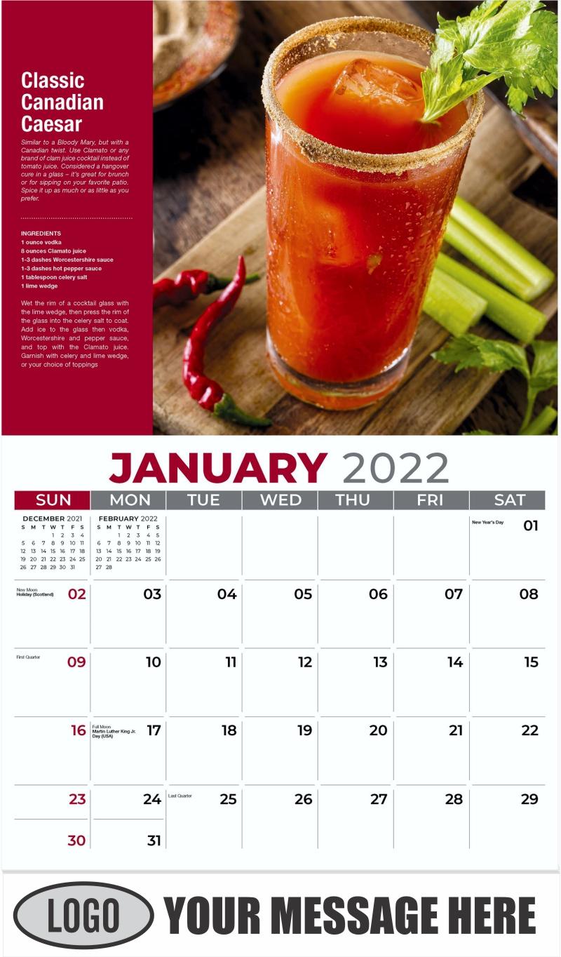 Classic Canadian Caesar - January - Happy Hour Cocktails 2022 Promotional Calendar