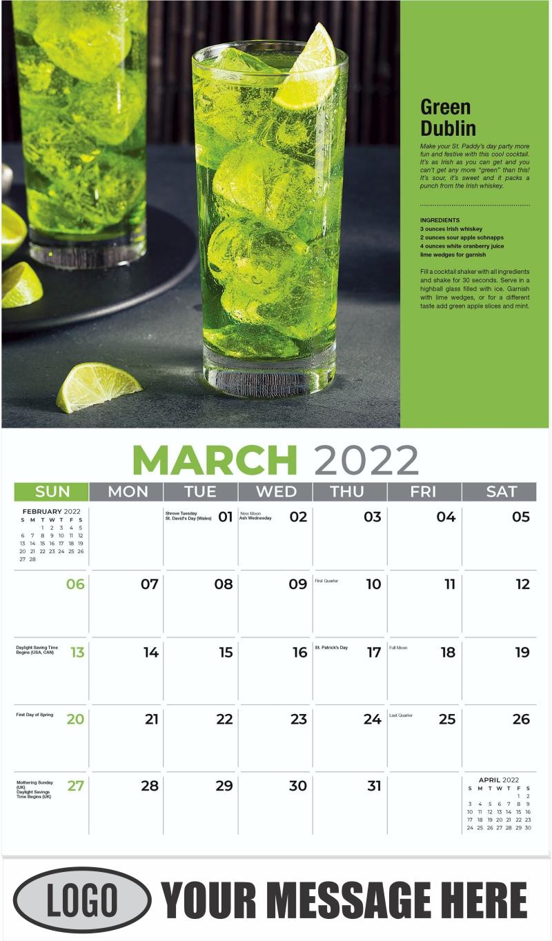 Green Dublin - March - Happy Hour Cocktails 2022 Promotional Calendar