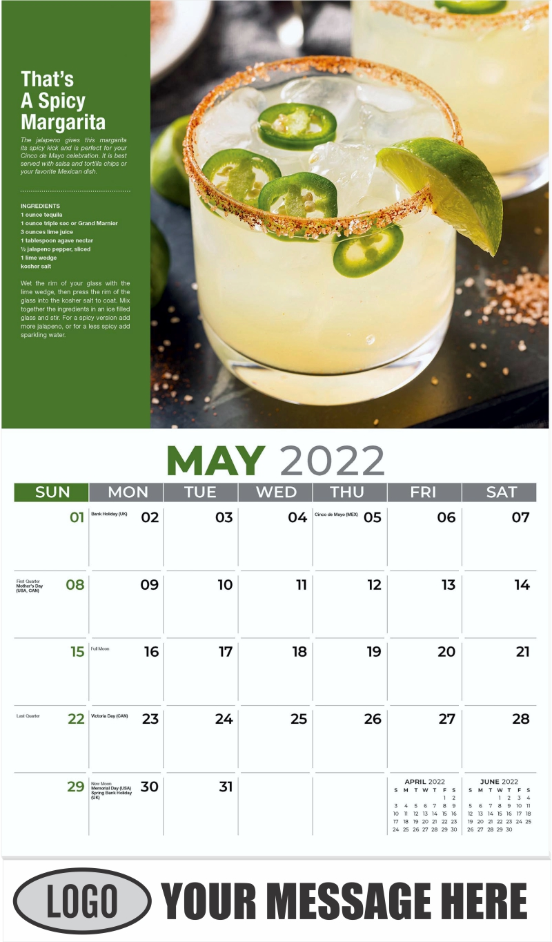 That's A Spicy Margarita - May - Happy Hour Cocktails 2022 Promotional Calendar
