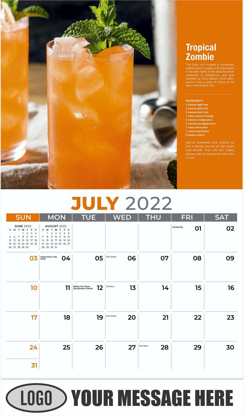 Tropical Zombie - July - Happy Hour Cocktails 2022 Promotional Calendar