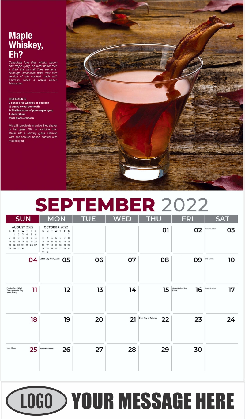 Maple Whiskey, Eh? - September - Happy Hour Cocktails 2022 Promotional Calendar
