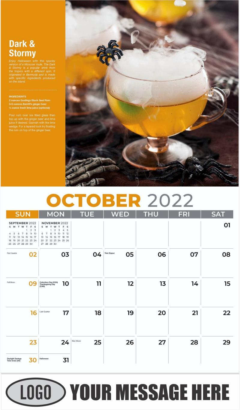Dark & Stormy - October - Happy Hour Cocktails 2022 Promotional Calendar