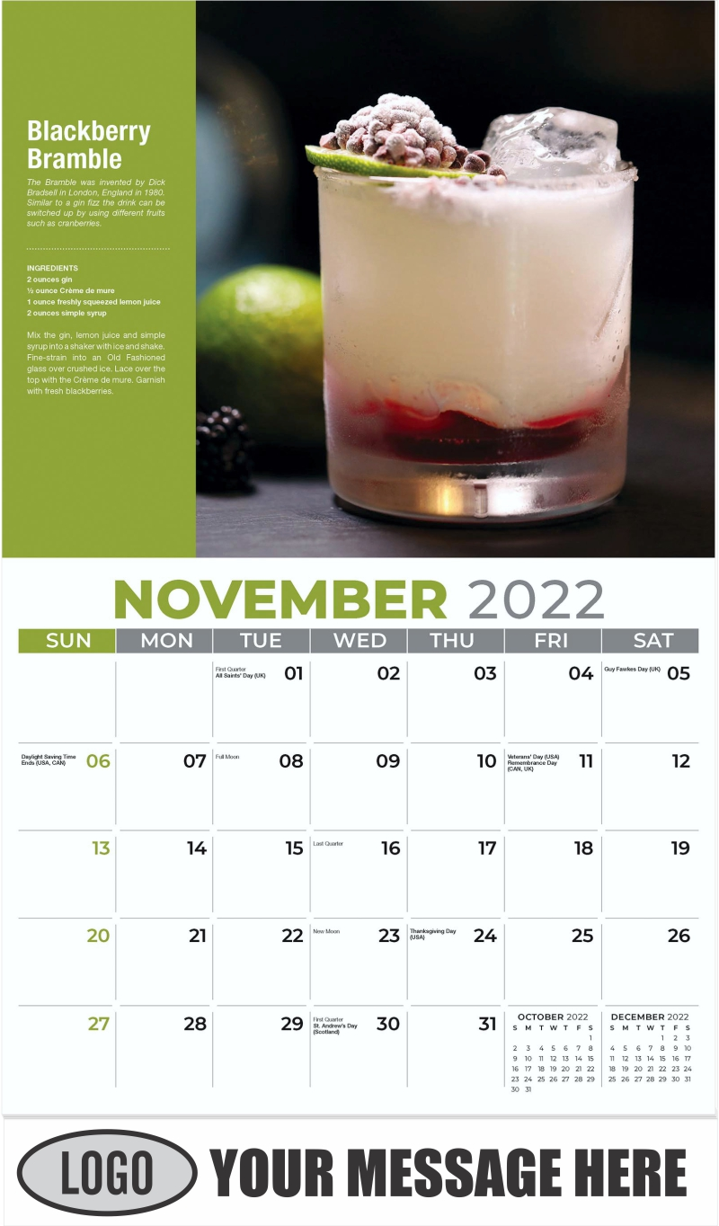 Blackberry Bramble - November - Happy Hour Cocktails 2022 Promotional Calendar
