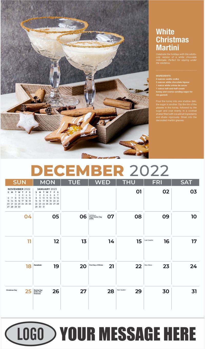 White Christmas Martini - December 2022 - Happy Hour Cocktails 2022 Promotional Calendar
