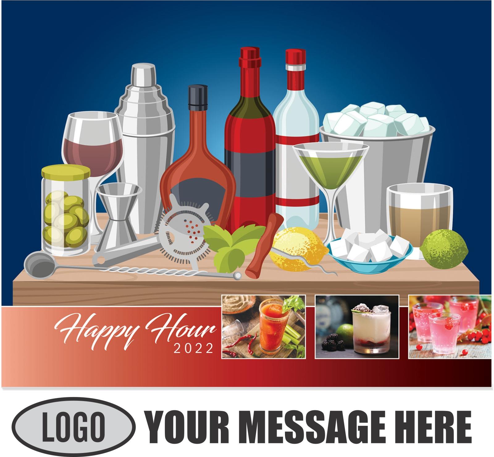 2022 Happy Hour Cocktails Promotional Calendar