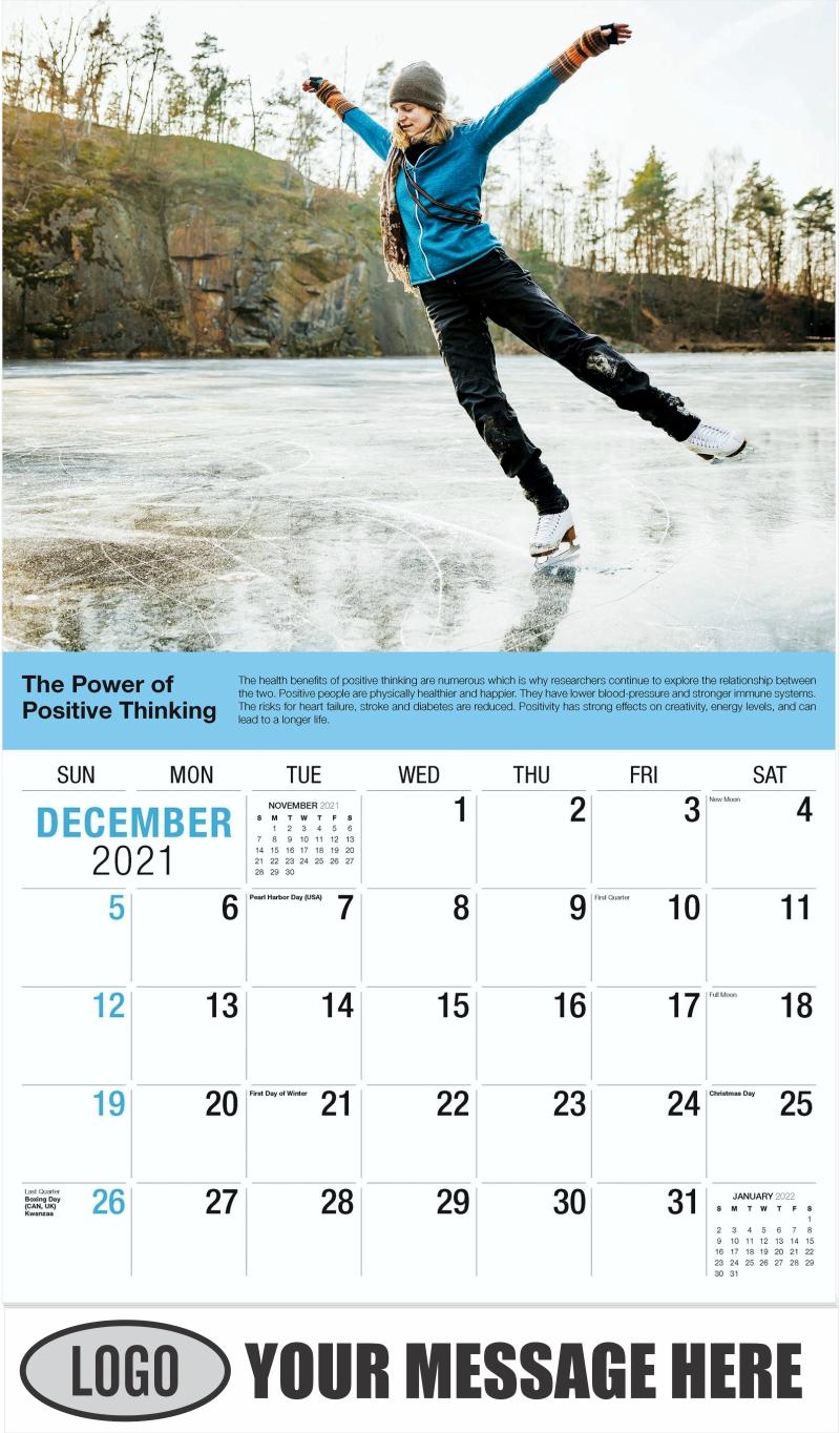 December 2021 - Health Tips 2022 Promotional Calendar