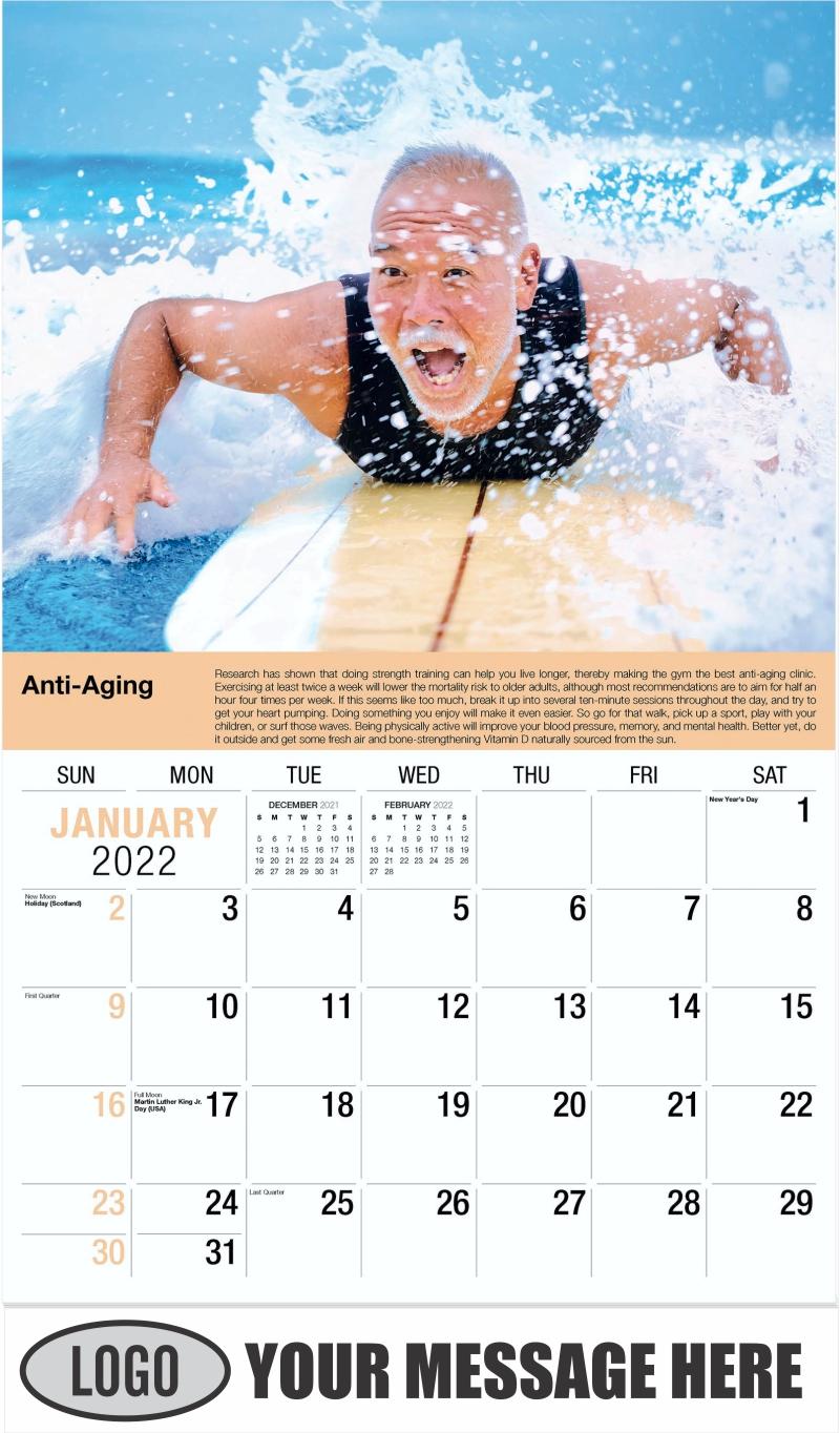January - Health Tips 2022 Promotional Calendar