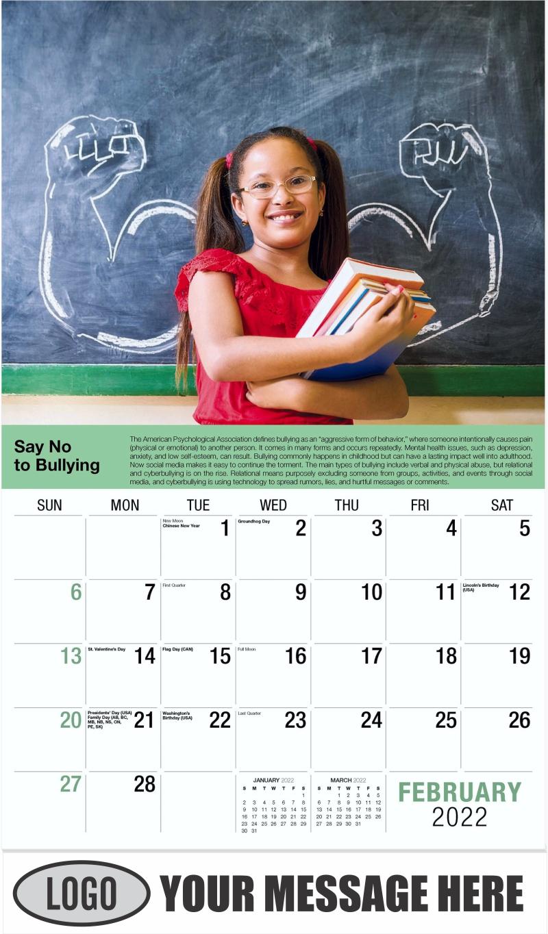 February - Health Tips 2022 Promotional Calendar