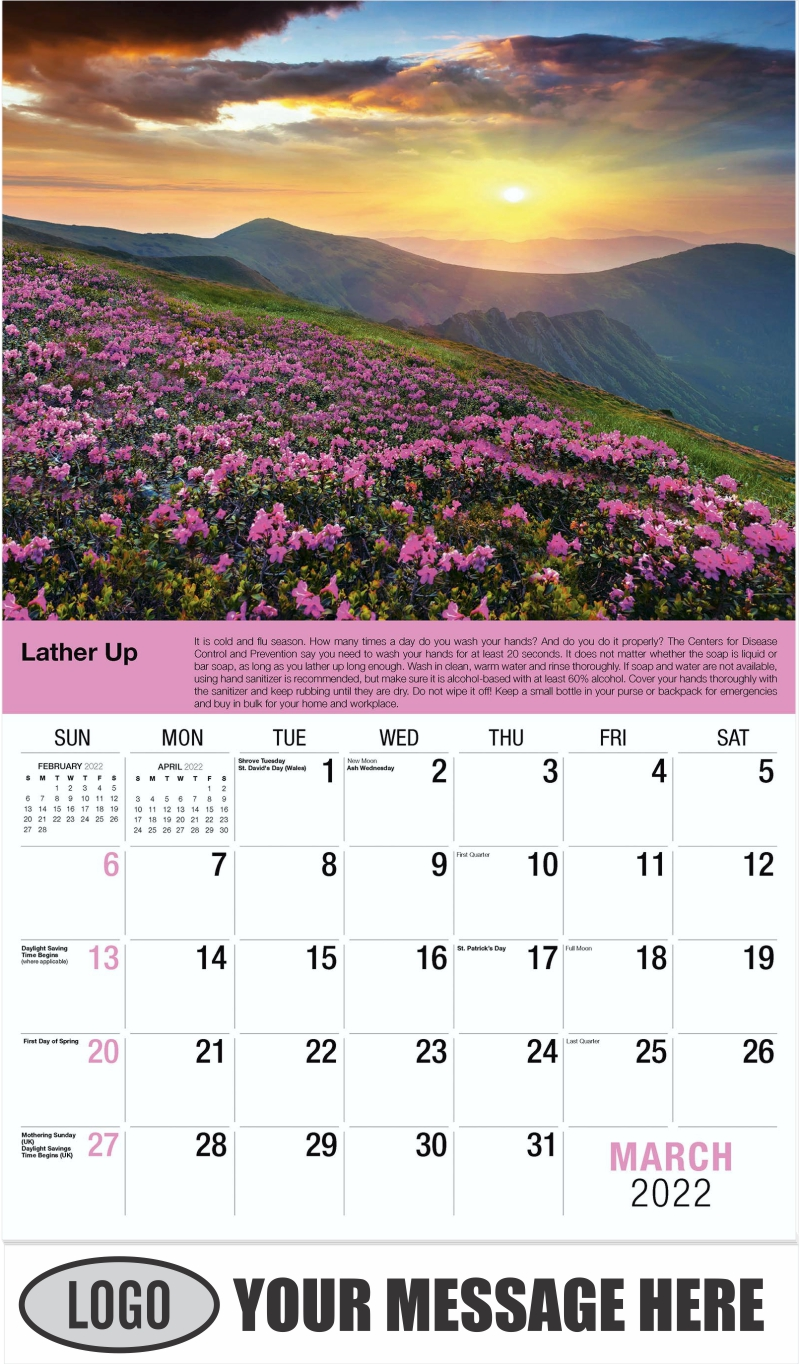 March - Health Tips 2022 Promotional Calendar