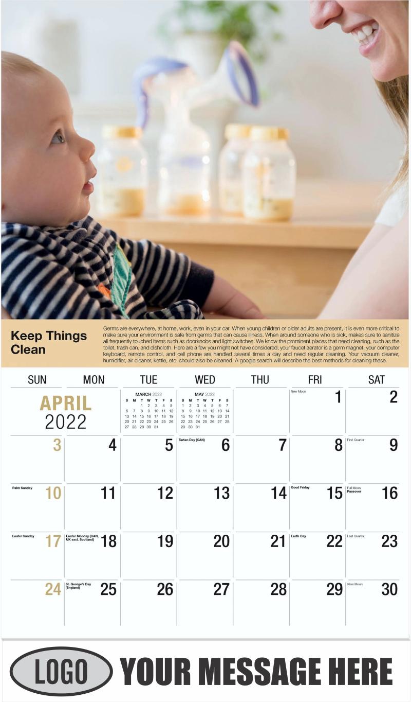 April - Health Tips 2022 Promotional Calendar