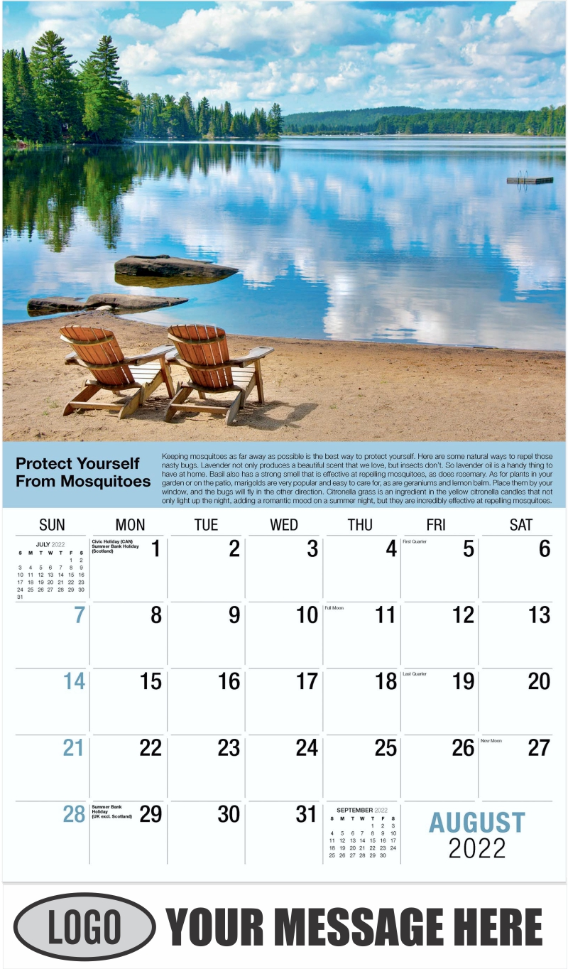 August - Health Tips 2022 Promotional Calendar